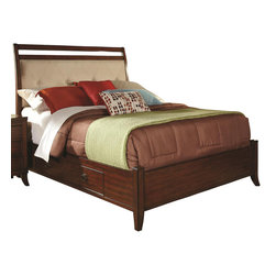 Coaster - Coaster Ortiz King Casual Bed with Storage in Cherry - Coaster Ortiz King Casual Bed with Storage 203031KE