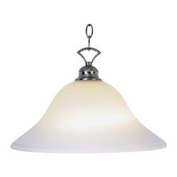 Premier - One Light 16 inch Pendant Fixture 617208 - Brushed Nickel - AF Lighting 617208 Wellington Lighting Collection 1 Light Pendant, Brushed Nickel, 16in. W by 9-1/2in. H.