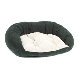 Bowsers Berber Reversible Dog Lounger - As if they don't already know, the Bowsers Berber Reversible Dog Lounger expresses your love to your pooch with its cradling comfort. Its durable Berber upholstery isn't just tough but resists moisture, fur, and dirt as well. If you get sick of the look, you can reverse the cover for a whole new style. It's thick cushion and high bolsters create the perfect nest for your pooch to nap their worries away. Just unzip the cover and toss it in the machine for a convenient wash. Choose from these sizes: Medium dog bedDimensions: 33L x 22W inchesLarge dog bedDimensions: 38L x 24W inchesExtra-large dog bedDimensions: 45L x 27W inches