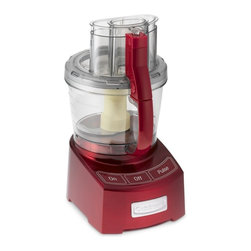 Cuisinart Elite Food Processor, 12-Cup, Red - I have this food processor and use it every single day. Chopping onions and garlic to season my stews and soups takes no time at all.