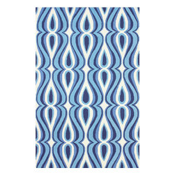 """nuLOOM - Contemporary 7' 6"""" x 9' 6"""" Blue Hand Hooked Area Rug UZB53 - Made from the finest materials in the world and with the uttermost care, our rugs are a great addition to your home."""