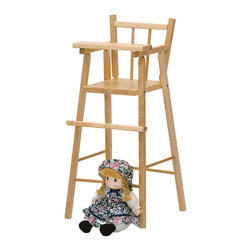 Steffywood - Steffywood Child Baby Toddler Pretend Play Maple Doll Highchair - Solid maple doll highchair ships fully assembled and has moveable traySolid maple construction. Non toxic environmentally safe durable clear finish. All edges rounded and smooth. GreenGuard Certified.