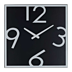 Modway - Schoolhouse Wall Clock in Black White - Demonstrate mathematical operations graphically with this playful teaching tool. Divide time into pieces as logical steps help children differentiate between hidden and visible numbering. Let the formative years of youth develop basic analytics while accurately portraying time and rendering reality.
