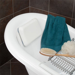 LeContour Rectangular Bath Pillow - White - The LeContour Bath Pillow will bring your bath experience to a new level of relaxation with its curved design and soft fill. Simply place the attached suction cups to your smooth-walled tub for secure placement.