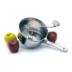 Norpro, Inc. - Food Mill Ss 2.2 Quart - Use as a masher, ricer and strainer. For sauces and purees. Hand washing recommended.          Bulk with Wrap Around Label  Cap Qt=2.2