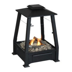 Real Flame Sierra Outdoor Gel Fuel Fireplace-Black - What We Like About This Gel Fuel Fireplace The Real Flame Sierra Outdoor Gel Fuel Fireplace lets you extend your outdoor living season and enjoy a real fire without the mess and hassle of wood. A slide-out drawer holds up to four cans of Real Flame fuel. Extinguish the flames quickly and easily with simple lever operation. Perfect for the deck patio porch balcony gazebo or coved arbor. This fireplace is a great alternative for anywhere log fires are restricted such as apartment or condo balconies. Includes a storage cover to protect the unit while not in use. Real Flame fireplaces are manufactured for the Jensen Company of Racine Wisconsin. The Jensen Company has been in business for over 75 years and is dedicated to customer satisfaction.