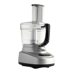 "OMEGA PRODUCTS INC. - Omega Food Pro Food Processor,8-1/2""W x 10-3/4""D x 16""H - Omega Food Pro Food Processor is the perfect addition to any kitchen as it drastically reduces food preparation time. This highly specialized designed allows you to quickly chop, mince, slice, puree, shred or knead whatever your heart desires. It has 11 cup work bowl and four cup mini chopper for a wide range of job sizes. Two slicing options and two shredding options for increased versatility. It includes dough blade and storage container to complete the total package."