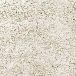 """Pret a Petal Luxurious Hand Knotted Felt Shag Rug , Ivory, 47""""x71"""" - Upon first glance of this luscious, handwoven rug, your eyes will think you're about to step onto a million fallen rose petals. After your first step, your feet will think they have, too."""