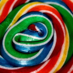 Rainbow Lollipop Candy Swirl Fine Art by Eye Shutter to Think - I would have trouble not licking my wall with this bright, beautiful photographic print hanging on it.