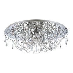 Eurofase Lighting - Eurofase Lighting 25686 Alto 28 Light Crystal Flush Mount Ceiling Fixture - Features: