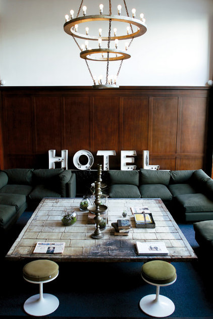 Eclectic Living Room Ace Hotel Portland