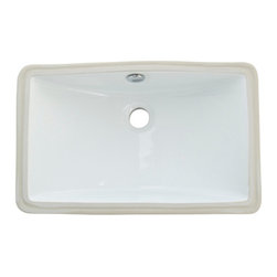 Kingston Brass - White China Undermount Bathroom Sink with Overflow Hole - Finest china material made undermount sink is perfect way to bring a bright new look to your bathroom.
