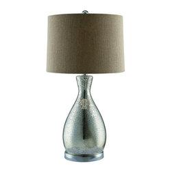 "Crestview - Crestview CVABS674 Sparkle Table Lamp 26""Ht - Sparkle Table Lamp 26""Ht   26""Ht., 13 x 14 x 9.5 Burlap Shade"