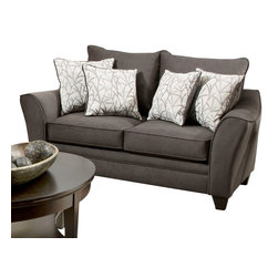 Chelsea Home Furniture - Chelsea Home Cupertino Loveseat in Flannel Seal - Cosmopolitan Birch Pillows - Cupertino loveseat in Flannel Seal - Cosmopolitan Birch Pillows belongs to the Chelsea Home Furniture collection .