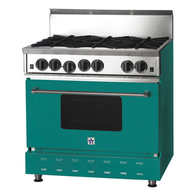 "36"" BlueStar Range in Turquoise Blue (RAL 5018 - RAL 5018"