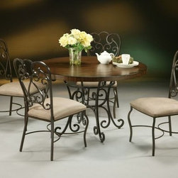 Pastel Furniture - Magnolia 5 Piece Dining Table Set in Autumn Rust - MA520-478- - Set includes Table and 4 Chairs