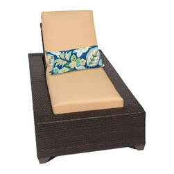 TKC - Kokomo Chaise Outdoor Wicker Patio Furniture 2 for 1 Cover Set, Yellow - The Kokomo Collection has a beautiful yet simple design. The Espresso all-weather wicker comes in rich tones of brown which gives it a warm and luxurious feel.