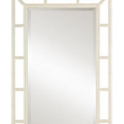Noelle Mirror - This beautiful mirror will bring big regency style to any room in your home, whether you choose to hang it over a console table, a mantle, a powder room sink or a dressing table. White is rather elegant, but I'm envisioning this baby in the red option - wouldn't that be stunning?