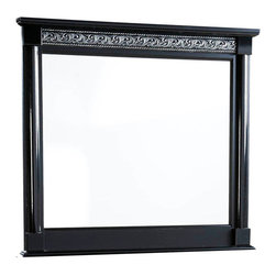Standard Furniture - Standard Furniture Venetian Black Rectangular Mirror in Black - Inspired by the romantic history of Old Venice, Venetian Bedroom is splendid with its visually rich surfaces and decorative elements.