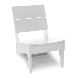 Loll Designs - Vang Chair, Cloud White - Loll's Vang Lounge Chair is yet another reason to look forward to after-hours lollygagging. This low, compact chair has a curved seat and back that feel just right on your backside. Its small stature makes it a perfect chair for smaller spaces or if you just like to move your outdoor seating around to find that perfect spot.