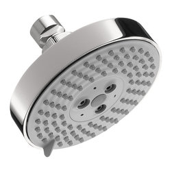 Hansgrohe - Hansgrohe 27457001 Raindance S 120 Air 3Jet Showerhead in Chrome - Raindance S 120 Air 3Jet Showerhead in Chrome belongs to Shower Collection by Hansgrohe The air-injection technology of the Raindance S 120 3-Spray 5 in. AIR Showerhead in Chrome combines standard water with the vitality of air. Each drop of water is infused with air, for an invigorating high-performance shower. Enjoy a soothing rain shower, cascading down onto your head and shoulders - Raindance showerheads envelop your body in a wonderful cloak of water for an ultimate shower experience.  Showerhead (1)