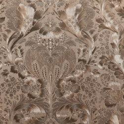 Wallpaper Worldwide - Kiera - Daring Damask Wallpaper, Light Golden Brown - Material: Paper