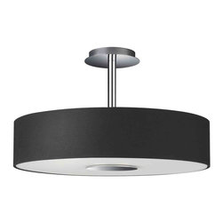 Forecast Lighting - Forecast 374813048 Dani Black Semi-Flush Mount - Forecast 374813048 Dani Black Semi-Flush Mount