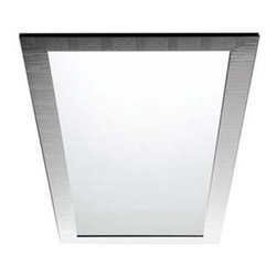 Azzurra - Azzurra | Duna Square Mirror - Made in Italy by Azzurra.A perfect addition to any bathroom vanity, the Duna Square Mirror is a decorative piece and a convenient source for crystal clear reflections. Its square shape comes in multiple sizes that will highlight any room in the house. The simple and lightly rippled texture of the frame gives the Duna Square Mirror a clean and serene presence, allowing your reflection to be the center of attention. Product Features: