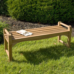4 ft Teak Backless Bench - This sleek and stylish Teak Backless Bench will become the highlight in any outdoor living space or garden. It is made of teak wood, making it easy to maintain and weather resistant.