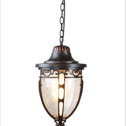 SP0703 Outdoor Metal and Glass Pendant Lighting -