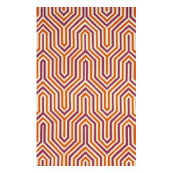 nuLOOM - Contemporary 5' x 8' Purple Hand Hooked Area Rug HK120 - Made from the finest materials in the world and with the uttermost care, our rugs are a great addition to your home.