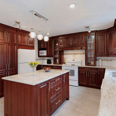 Traditional Kitchen Cabinetry by Creations Sylvain Lavoie