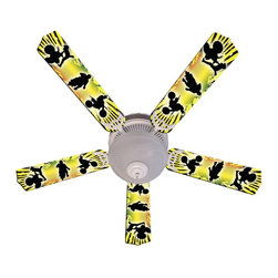 Ceiling Fan Designers - Ceiling Fan Designers Kids Baja MX Motocross Indoor Ceiling Fan - 42FAN-IMA-BMX - Shop for Ceiling Fans and Components from Hayneedle.com! Your kid is going to love the awesome Ceiling Fan Designers Kids Baja MX Motocross Indoor Ceiling Fan. With its rad yellow and black colors and Baja MX Motocross design this ceiling fan has style. It's a ceiling fan and light kit combo and comes in your choice of size: 42-inch with 4 blades or 52-inch with 5. The blades are reversible so you get the colorful design on one side and white on the other. It has a powerful yet quiet 120-volt 3-speed motor with easy switch for year-round comfort. The 42-inch fan includes a schoolhouse-style white glass shade and requires one 60-watt candelabra bulb (not included). The 52-inch fan has three alabaster glass shades and requires three 60-watt candelabra bulbs (included). Your ceiling fan includes a 15- to 30-year manufacturer's warranty (based on size). It is not an officially licensed product. Licensed products were used as decorations.