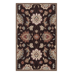 Surya Rugs - Surya KGT2001 Kingston Hand Tufted Coffee Bean Brown Rug (5-Feet x 8-Feet) - 100% Polyester. Style: Transitional. Rugs Size: 5' x 8'. Note: Image may vary from actual size mentioned.