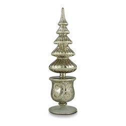 Filigree Tree Antique Silver - A tree that shimmers to the heavens, the Filigree Antique Silver Tree is a vintage inspired accessory that brings to mind Christmases of the past...simple times that were dedicated to family and traditions. Place one on your mantle among your favorite holiday decor or give one as a thoughtful gift.