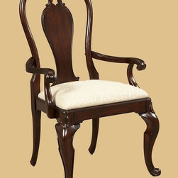 "ART Furniture - Devonshire Bow Back Arm Chair - 191205-2106 - Cherry veneers distressed through dry brushing, cowtails, fly specs, water marks and worm holes, define the casual, ""passed-down through the generations"" feel of this collection."