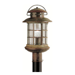 Kichler - Kichler 9962RST 1 Light Post Light from the Rustic Collection - Kichler 9962 Rustic Post Lantern