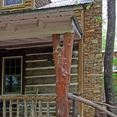 Rustic Exterior by Clark & Zook Architects, LLC