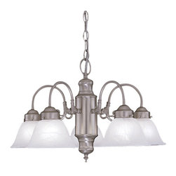 Designers Fountain - Designers Fountain 4208-AL-PW 5 Light Chandelier from the Bistro Collection - Features: