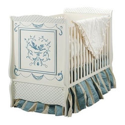 Bluebird Cottage Crib - Beautiful, hand-painted, and made in Italy — that's really all you need to say. Added bonus: it's suitable for a boy or girl.