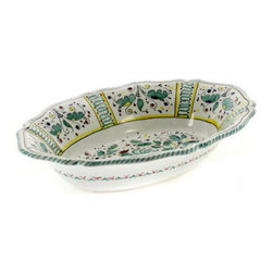 Artistica - Hand Made in Italy - Orvieto: Oval Bowl Baccellato - Orvieto Collection: This is a very old and traditional pattern that originated during the Renaissance in the hill-top town of Orvieto - Italy.