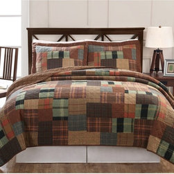 Classic Home - Jewel Tone Plaid Quilt Set Multicolor - QS8581KG-2349 - Shop for Bedding Sets from Hayneedle.com! Add warmth and color to your room with the gorgeous Jewel Tone Plaid Quilt Set. Pre-washed for softness and durability this quilt and sham set is made from cotton-rich fibers and has a 100% cotton face cloth with a 94% cotton/6% other fiber fill for the perfect amount of comfort and warmth. The quilt and shams are pre-washed for added softness and you'll love the rich jewel tones which add color and depth to your bedroom. Machine washable for your convenience this set is a beautiful addition to any room. Comforter Dimensions Full/Queen: 86L x 86W in. King: 90L x 100WAbout Pem America Makers of high-quality handcrafted textiles Pem America Outlet specializes in bedding that enhances your comfort and emphasizes the importance of a good night's rest. Quilts comforters pillows and other items for the bedroom are made with care and craftsmanship by Pem America. Their products cover a wide range of materials styles colors and designs all made with long-lasting quality construction and soft long-wearing materials. Details like fine stitching embroidery and crochet decorations and reinforced seaming make Pem America bedding comfortable and just right for you and your family.