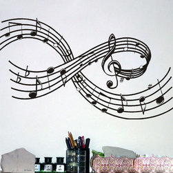 ColorfulHall Co., LTD - Diy Large Craze Music Notes Symbol Music Wall Decals - DIY Large Craze Music Notes Symbol Music Wall Decals