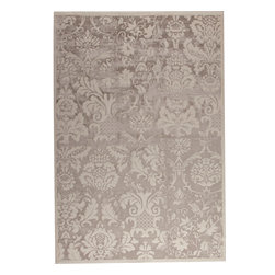 """MAT Orange Baroque Beige Rug - 5'2""""x7'6"""" - The rugs in this collection are all inspired by urban lanandscapes, making way for a statement where texture, shape, and line are the form. The rug's texture and the marriage of colors speak to the contemporary room. """"It is the art piece on the floor.  Because of the artistic quality ofThe rugs they are easily used in modern as well as traditional interiors. Pile Height:0. 5 Inches"""