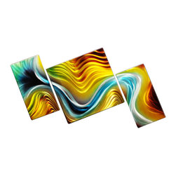 Matthew's Art Gallery - Metal Wall Art Abstract Modern Contemporary Liquid Tension - Name: Liquid Tension