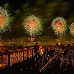 Magic Murals - New York Fireworks Wallpaper Wall Mural - Self-Adhesive - Multiple Sizes - Magic - New York Fireworks Wall Mural