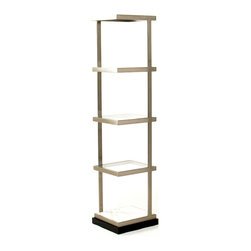 Mitchell Gold + Bob Williams - Emilio II Etagere - For a room shelf that both blends in with the decor, but stands out with its minimalist classic style, this piece has the versatility to go in any room and be used any way you wish. Create a prime centerpiece for statue art, or stack your towels and linens on it in your bathroom. The choice is yours.