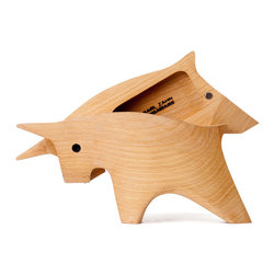 Secret Bull Box - With little hinges to open and close a secret compartment, this art piece is more than what it seems. Great gift for animal lovers.