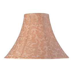 Lite Source - Jacquard Bell Shade - 7in.Tx18in.Bx12in.Sh - JACQUARD BELL SHADE - 7 in. Tx18 in. Bx12 in. SH