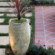Mediterranean Outdoor Planters by Cassy Aoyagi, FormLA Landscaping